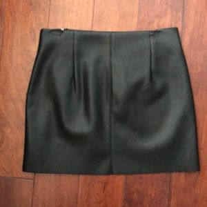 Zara Skirts - Black leather skirt with silver zippers